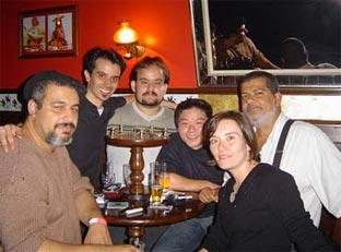 Claudinei, Yuri, André, Chun, Ana e Wilson