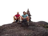 No cume do Monte Roraima, Venezuela, com Kepa, amigo Basco