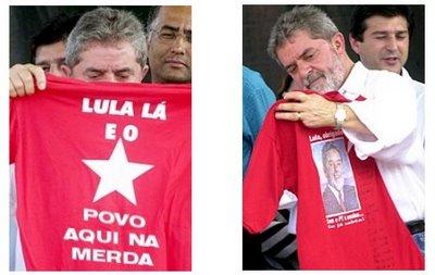 Lula lá e o povo na merda